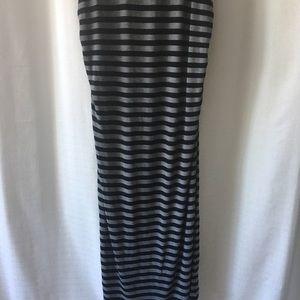 summer & sage Dresses - Summer & Sage striped maternity maxi dress